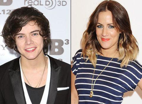 Harry Styles (L) dated Caroline Flack shortly after his rumoured romance with Lucy. Credit: Getty Images