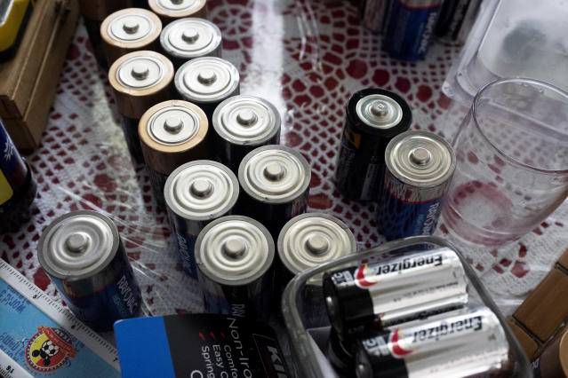 Three months later, the Vazquez family still relies heavily on batteries. (Photo: Jose R. Madera for Yahoo News)