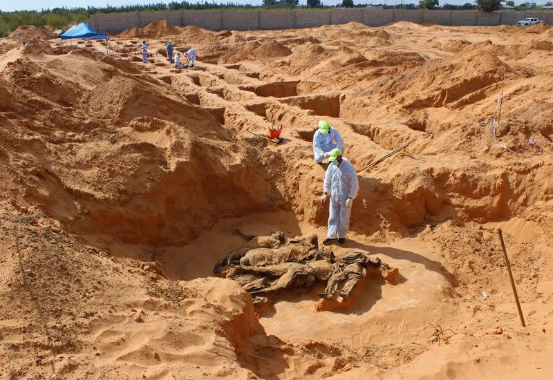 Libyan investigators find more mass graves in recaptured city