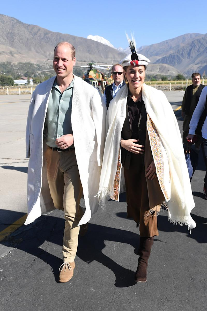 Kate Middleton Wears Same Hat Diana Wore as She and Prince William Head to Pakistan Mountains