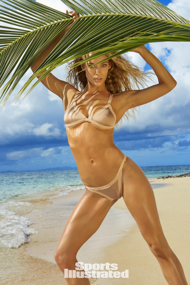 <p>Hannah Ferguson was photographed by Yu Tsai in Fiji. Swimsuit by Leah Shlaer. </p>
