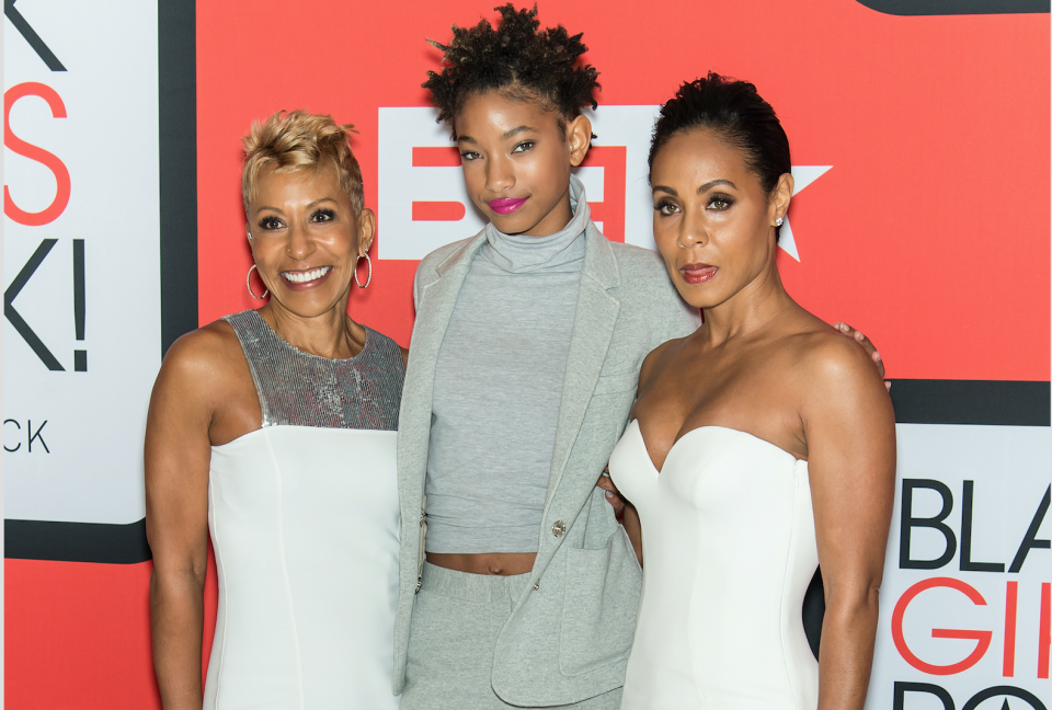 Three generations of the Pinkett Smith ladies. (Photo: Getty Images)
