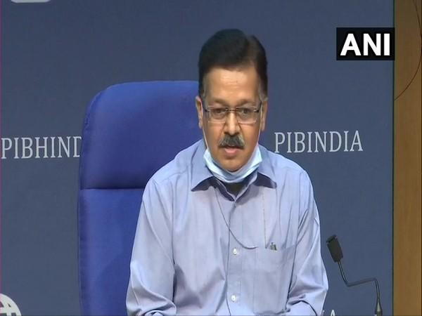 Union Health Secretary Rajesh Bhushan during a press conference in New Delhi on Tuesday. (Photo/ANI)