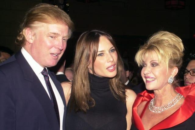 Donald Trump and girlfriend Melania Knauss are joined by Tru