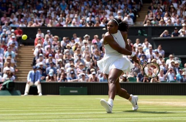 Serena Williams in action on Middle Sunday in 2016