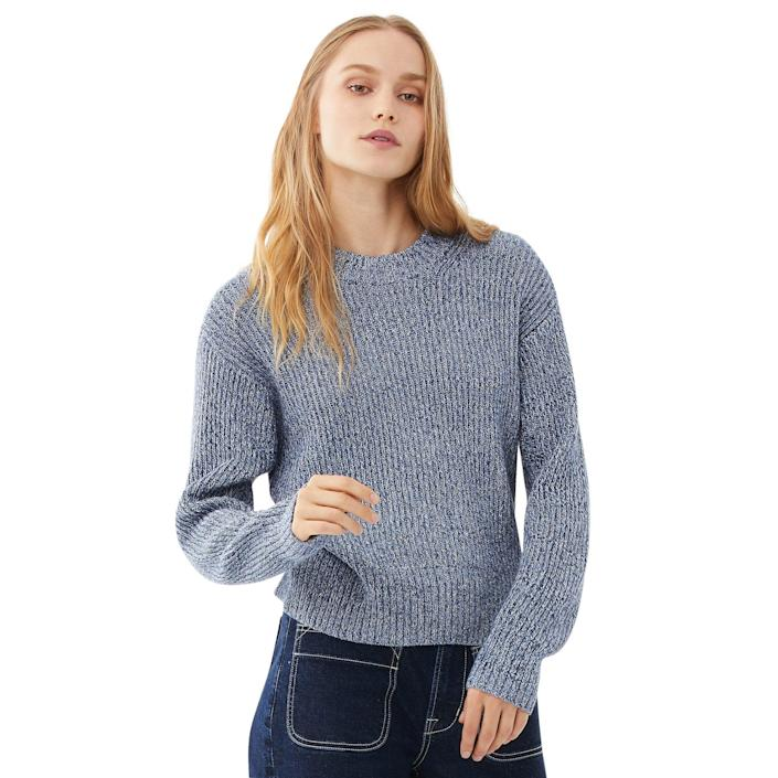 """<br> <br> <strong>Free Assembly</strong> Chunky Knit Sweater, $, available at <a href=""""https://go.skimresources.com/?id=30283X879131&url=https%3A%2F%2Fwww.walmart.com%2Fip%2FFree-Assembly-Women-s-Marled-Chunky-Crewneck-Sweater%2F837998436%3FvariantFieldId%3Dactual_color"""" rel=""""nofollow noopener"""" target=""""_blank"""" data-ylk=""""slk:Walmart"""" class=""""link rapid-noclick-resp"""">Walmart</a>"""