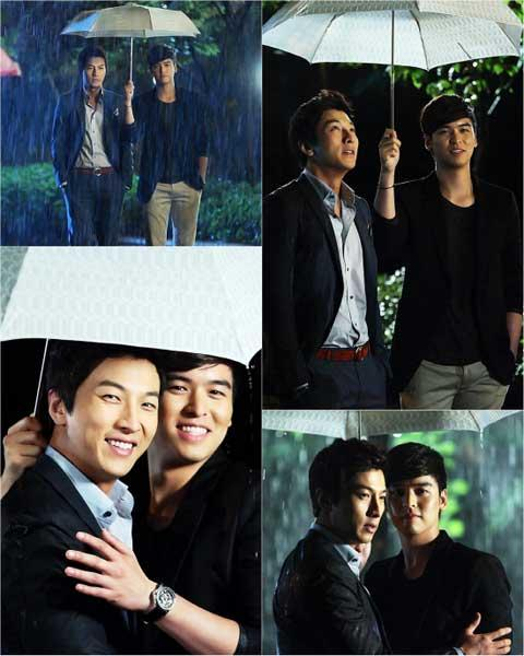 Lee Jang Woo and Park Geon Hyeong Share an Umbrella in 'I Do I Do'
