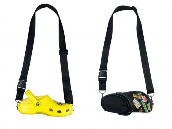 The crossbody bag is available in yellow and black (Pizzaslime/Crocs)