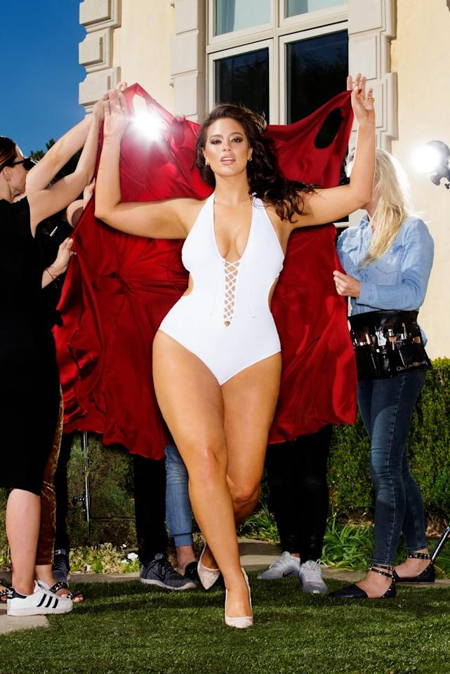 "<p>Ashley Graham is wearing the <a rel=""nofollow"" href=""https://www.popsugar.com/buy/Ashley-Graham-x-Swimsuits-All-VIP-White-Swimsuit-329215?p_name=Ashley%20Graham%20x%20Swimsuits%20For%20All%20VIP%20White%20Swimsuit&retailer=swimsuitsforall.com&evar1=fab%3Aus&evar9=44867545&evar98=https%3A%2F%2Fwww.popsugar.com%2Ffashion%2Fphoto-gallery%2F44867545%2Fimage%2F44867552%2FAshley-Graham-wearing-Ashley-Graham-x-Swimsuits-All-VIP&prop13=mobile&pdata=1"" rel=""nofollow"">Ashley Graham x Swimsuits For All VIP White Swimsuit</a> ($62, originally $96)</p>"