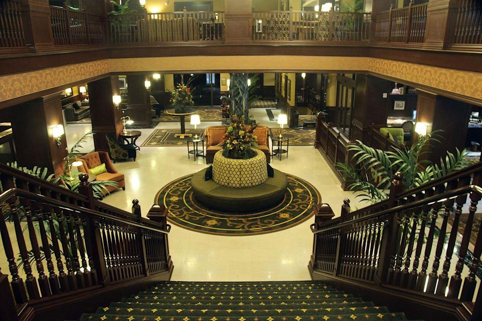 "<p>Elegance is of the utmost importance when it comes to the accommodations at Dubuque's Hotel Julien. Located in the Old Main District, it's rumored to have hosted Abraham Lincoln on his travels to Illinois, and to have been owned by mob leader, Al Capone.<br></p><p><strong>EXPLORE NOW</strong>: <a href=""https://www.tripadvisor.com/Hotel_Review-g37853-d88377-Reviews-Hotel_Julien_Dubuque-Dubuque_Iowa.html"" rel=""nofollow noopener"" target=""_blank"" data-ylk=""slk:Hotel Julien"" class=""link rapid-noclick-resp"">Hotel Julien</a></p><p><em>Image via <a href=""https://www.flickr.com/photos/dirkhansen/16772342155"" rel=""nofollow noopener"" target=""_blank"" data-ylk=""slk:SD DIRK"" class=""link rapid-noclick-resp"">SD DIRK</a>/Flickr</em></p>"