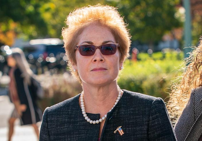 Former U.S. ambassador to Ukraine Marie Yovanovitch, arrives on Capitol Hill, Oct. 11, 2019, in Washington, as she is scheduled to testify before congressional lawmakers as part of the House impeachment inquiry into President Donald Trump.