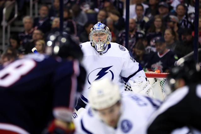 The Lightning made extended Andrei Vasilevskiy a priority. Mandatory Credit: Aaron Doster-USA TODAY Sports