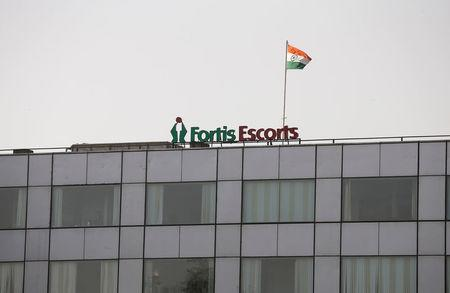 A Fortis hospital building is pictured in New Delhi