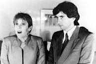 """<p>Carrie Fisher in <em>Trying Times</em>, """"Hunger Chic,"""" with Griffin Dunne (Season 2, October 12, 1989). (Photo: Everett Collection)</p>"""