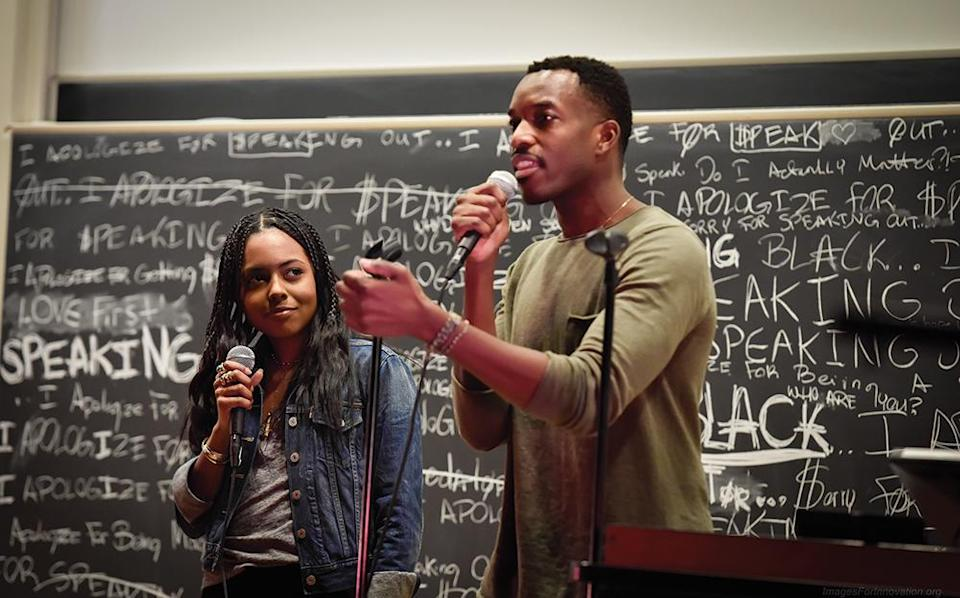 Tony winner Adrienne Warren and Britton Smith of the Broadway Advocacy Coalition, founded in response to the 2016 murder of Philando Castile by police - Credit: Lee Wexler