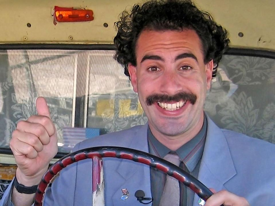 Perceptive, cringeworthy and crude: Sacha Baron Cohen as Borat (Amazon)