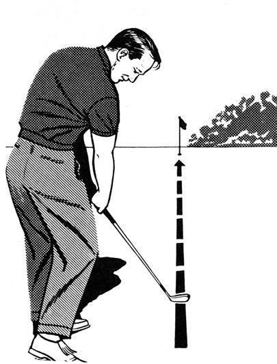 "<p>Many shots stray because the golfer has rolled the wrists to the left--closing the clubface--during impact, or moved the club ""across the ball"" through the hitting area.</p> <p>To eliminate these causes of misdirected shots, continue the clubhead along the target line for an instant longer than normal after impact. Extending the impact zone will automatically give you a full extension of your right arm on the follow-through and a nice, high finish position.</p> <p><strong>WHAT I THINK TODAY</strong><br> I like this idea, but don't sway toward the target; just ""throw"" the clubhead down the line.</p>"