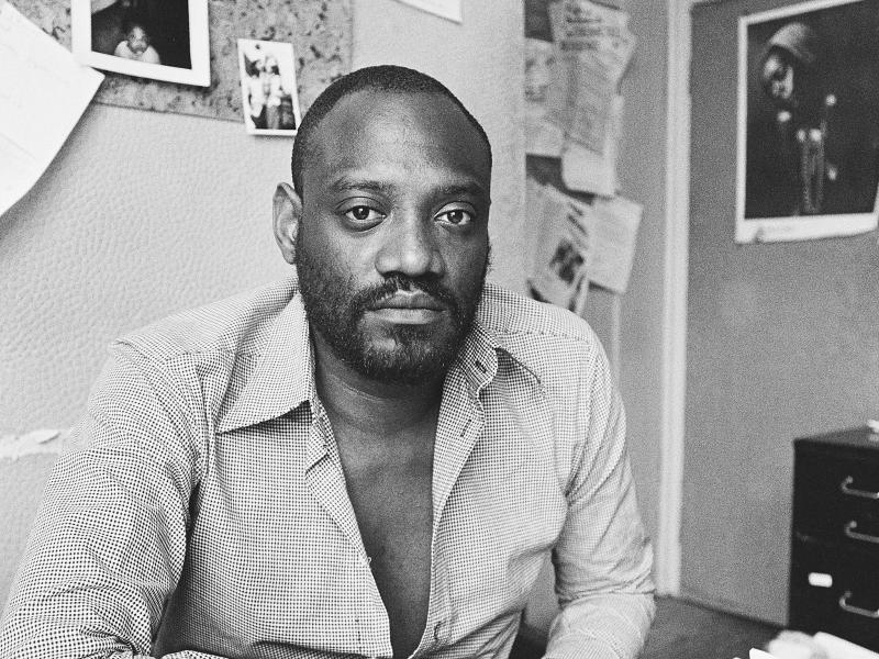 Darcus Howe, then editor of the magazine Race Today, pictured in his London office in 1976: Getty