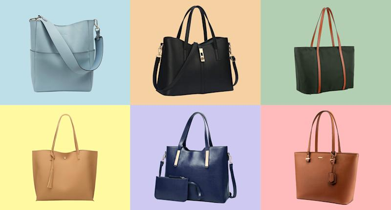 Find your next stylish tote bag from Amazon. Did we mention these are best-sellers too? (Photo: Amazon)