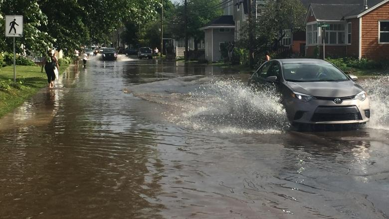 Heavy rain floods parts of Charlottetown 2 days in a row