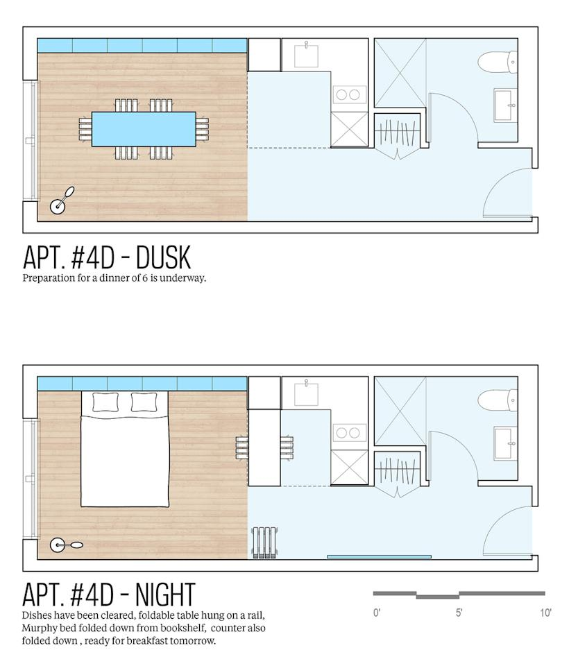 In pictures new york 39 s winning micro apartment design for Apartment design your destiny winner