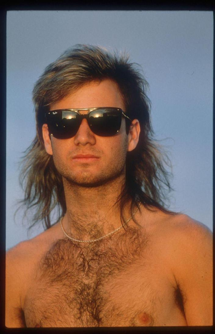 <p>Andre Agassi hanging out in Paris in 1990. </p>