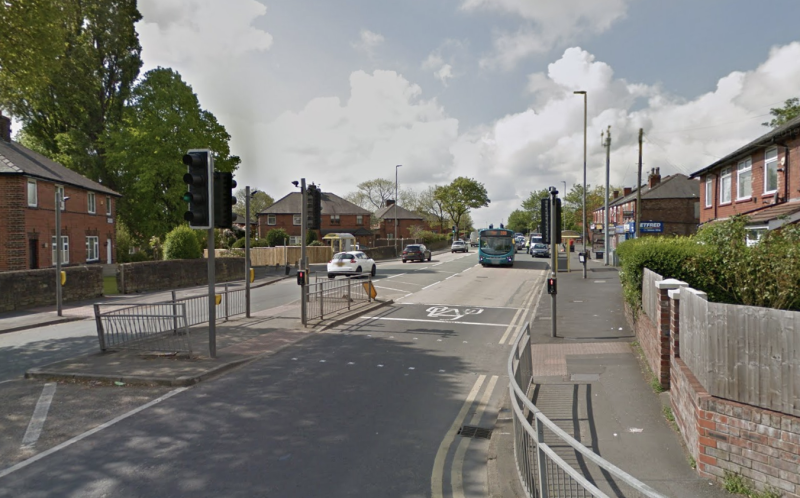 The crash took place on Blackbrook Road in St Helens. (Google)