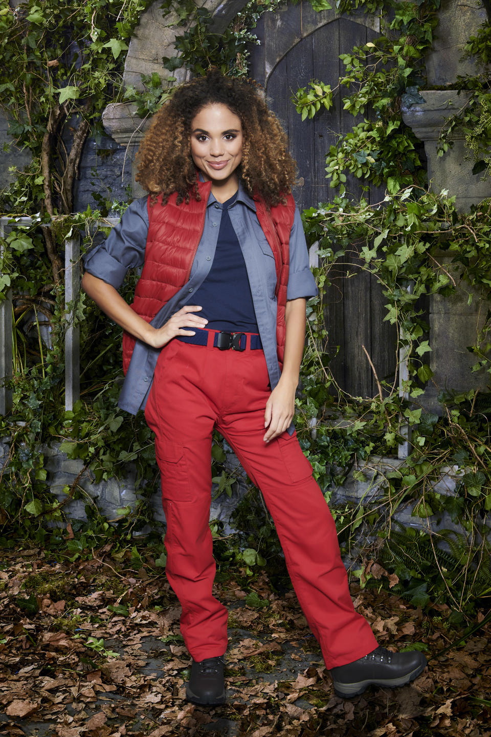 Jessica Plummer in a promotional still for I'm A Celebrity... Get Me Out Of Here! (ITV)