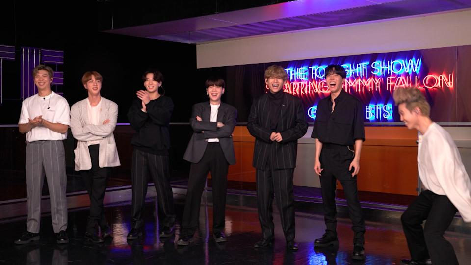 BTS on The Tonight Show, October 1, 2020.