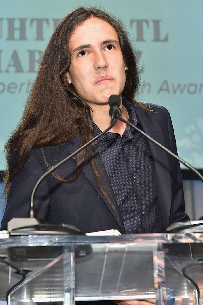 """<p>Martinez is an environmental activist who spoke at the U.N. three times by the age of 15 urging leaders to take action against climate change. He and 21 other people around his age are the plaintiffs in a lawsuit against the federal government arguing that ignoring climate change means they are denying the constitutional right to life, liberty, and property. Martinez has even turned his message into music with a hip-hop song called """"<a href=""""https://www.youtube.com/watch?v=yvo0ndNvplI"""" rel=""""nofollow noopener"""" target=""""_blank"""" data-ylk=""""slk:Speak for the Trees"""" class=""""link rapid-noclick-resp"""">Speak for the Trees</a>,"""" which was chosen as the theme song for the 2015 United Nations Climate Change Conference.</p>"""
