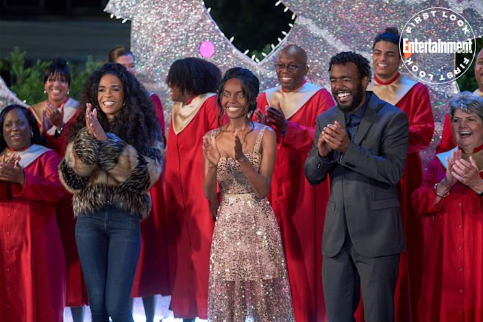 """<p><strong>Premieres:</strong> Oct. 29, 8 p.m. ET/PT, Hallmark Channel</p> <p><strong>Stars: </strong>Ashleigh Murray, Luke James, Loretta Devine, Michelle Williams, Basil Wallace</p> <p><strong>Contains:</strong> Reigniting of old flames, lots of singing</p> <p><strong>Official description:</strong> """"Harmony is tricked into auditioning for the Holiday Chorus — directed by an ex-boyfriend. By Christmas Eve, they could be harmonizing in the key of love.""""</p>"""