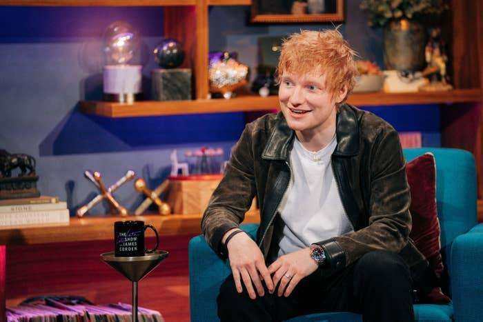 Ed Sheeran appears on The Late Late Show with James Corden