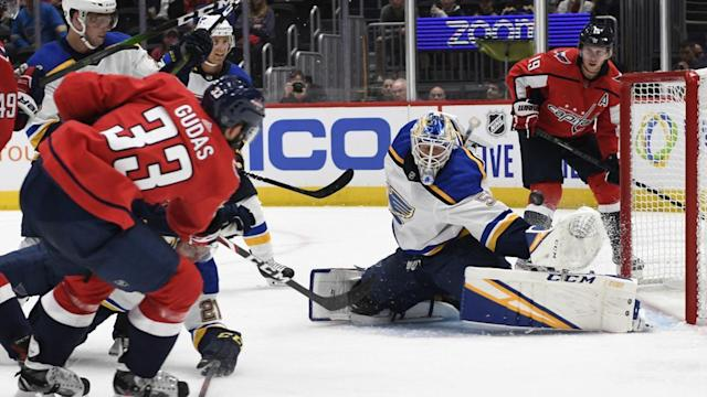 Another first for Binnington in Blues 3-2 loss in Washington