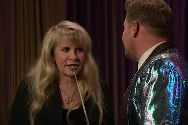 Watch Stevie Nicks Smash Herself in the Face With Twirling Baton (Video)