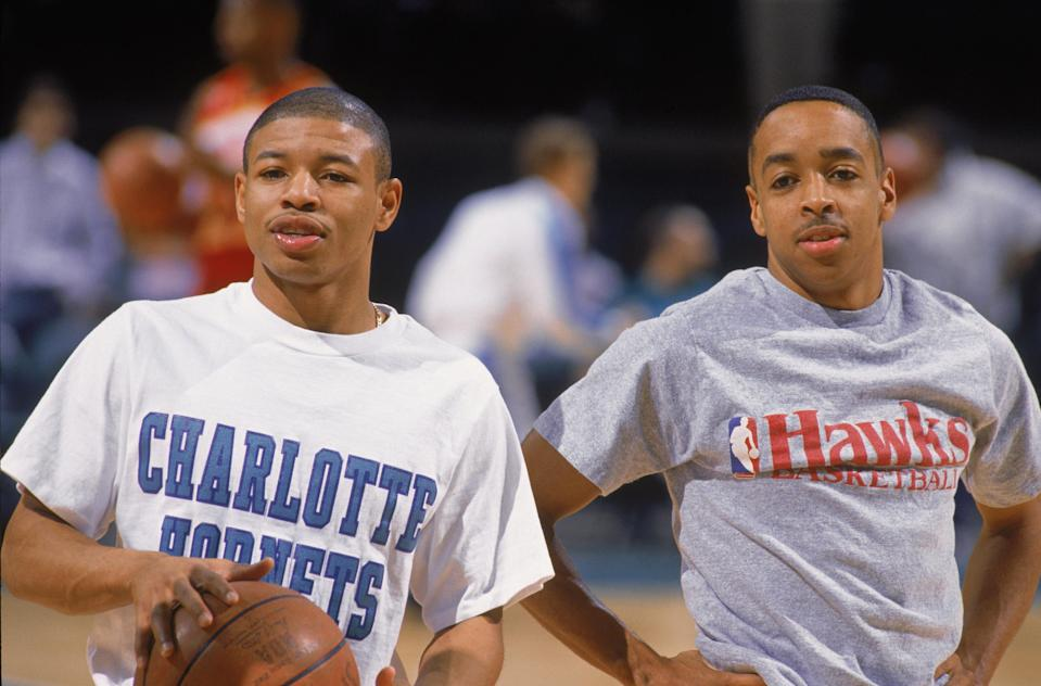 Muggsy Bogues and Spud Webb are two of the nine shortest players in NBA history. (Getty Images)