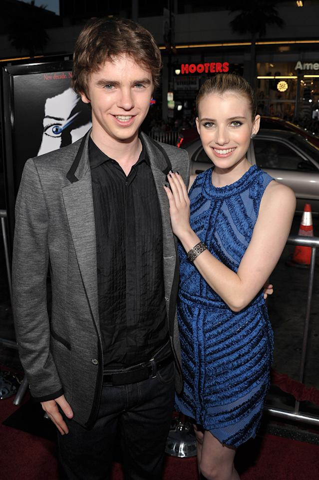 """<a href=""""http://movies.yahoo.com/movie/contributor/1804723464"""">Freddie Highmore</a> -- who's best known for his roles in """"Finding Neverland"""" and """"Charlie and the Chocolate Factory"""" -- cozied up to <a href=""""http://movies.yahoo.com/movie/contributor/1804508466"""">Emma Roberts</a> on the red carpet."""