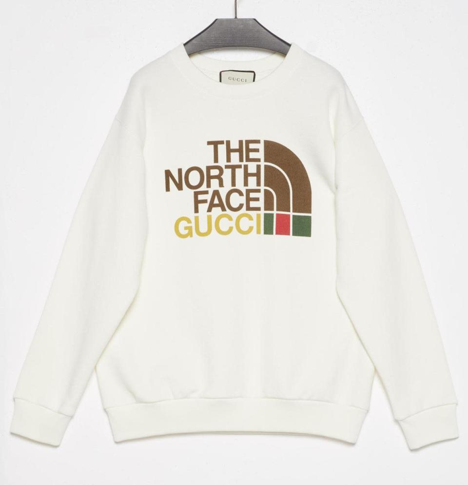The North Face x Gucci 聯名衛衣 NT$38,000。(Gucci提供)