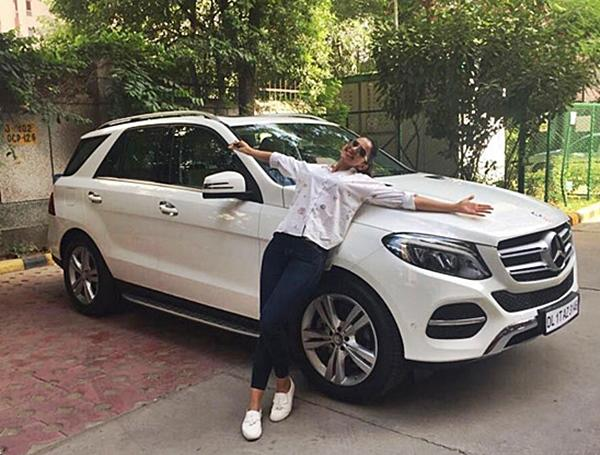 The actress last year purchased a Mercedes GLE SUV, which is a high-end product in the Mercedes range. White seems to be her preferred colour.