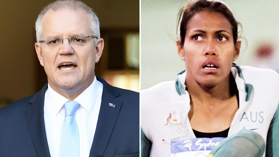 Cathy Freeman and Scott Morrison, pictured here in previous years.