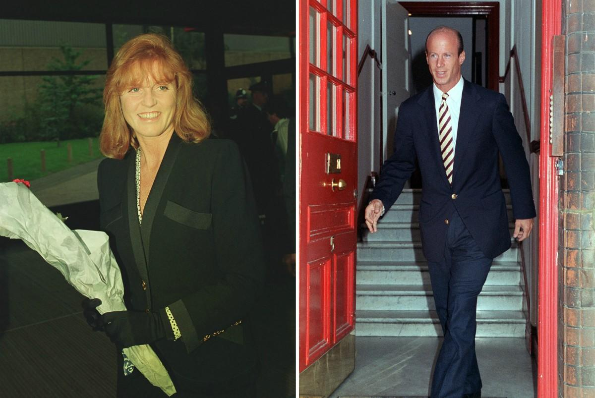<p>It was 1992 – shortly after Sarah Ferguson's separation from Prince Andrew – when photos came out in which Ferguson's financial advisor appeared to be sucking the Duchess of York's toes. It proved that John Byran was offering a little bit more than just financial advice to Fergie when it hit the papers. <em>[Photo: PA]</em> </p>