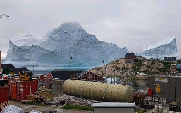Iceberg drifting close to Greenland village spotted in image from space - Ireland