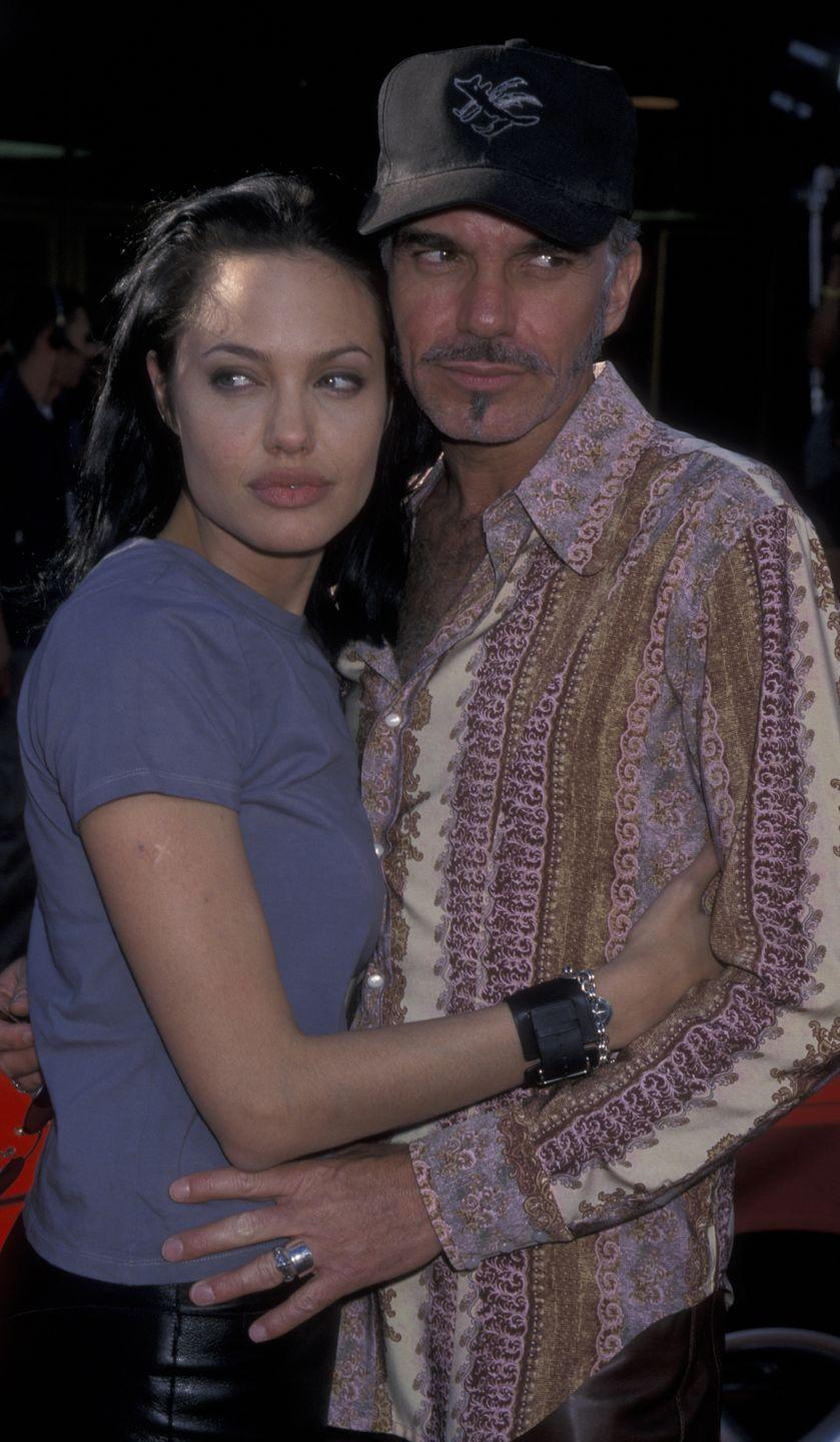 "<p>Angelina Jolie and Billy Bob Thornton's relationship began with the actor cheating on his girlfriend, Laura Dern. From there, the couple proceeded to <a href=""https://www.insider.com/billy-bob-thornton-angelina-jolie-blood-necklaces-marriage-2018-6"" rel=""nofollow noopener"" target=""_blank"" data-ylk=""slk:wear each other's blood in vials around their necks"" class=""link rapid-noclick-resp"">wear each other's blood in vials around their necks</a> and show off major PDA on the red carpet, all of which turned fans off. </p>"