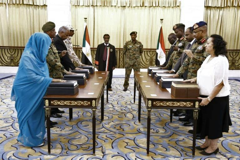 Women account for just two of the 11 members of the new ruling body, which is meant to guide Sudan through 39 months of transition to full civilian rule, and one of them was not included in the original list put foward by protest leaders (AFP Photo/-)