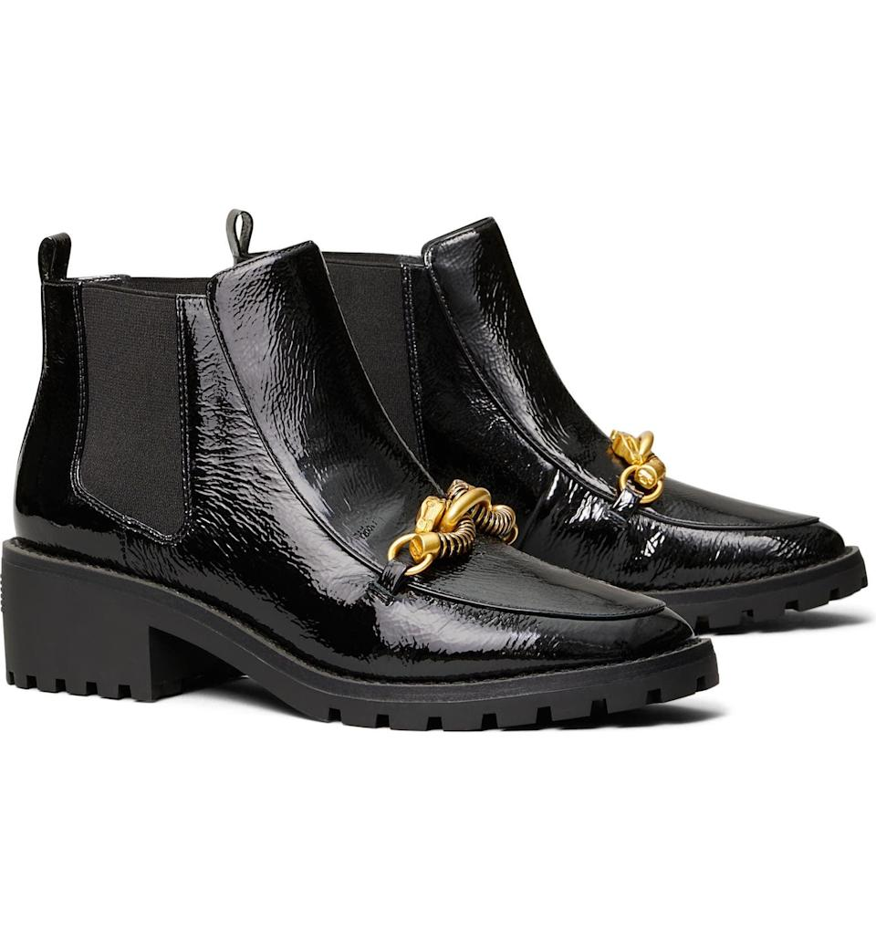 <p>These <span>Tory Burch Jessa Chelsea Boots</span> ($448) look so luxurious, and it's all thanks the dragon ornament that gives them an opulent feel. The silhouette is perfect for day to night.</p>