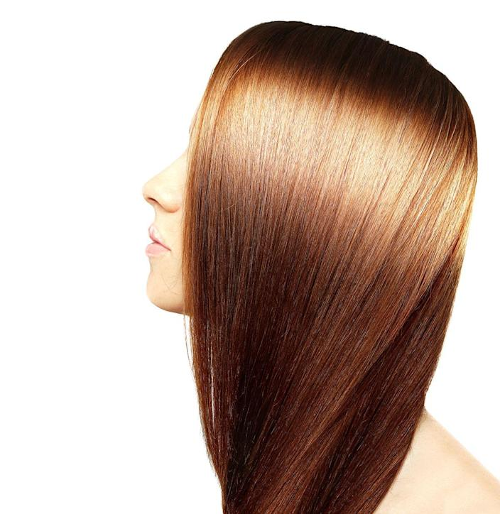 "<p>One easy way to give your hair a little gleam is to lower the temperature of your shower. ""Cold rinses when you wash your hair will close the cuticle. A closed cuticle reflects the light, leaving the hair looking shiny,"" says Mistry. If you want added shine, use protecting oil, cream, or serum to give your strands some gleam. </p>"