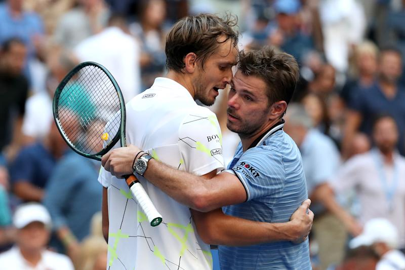 Medvedev got the better of Stan Wawrinka in the quarter-finals. (Credit: Getty Images)