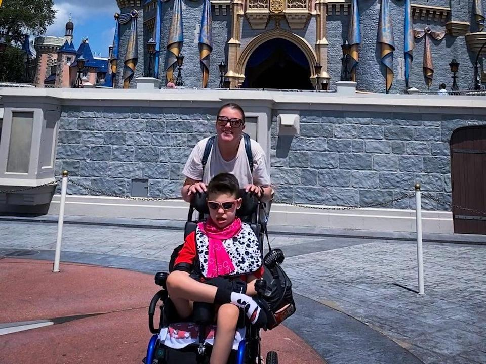 Tricia Proefrock took her son to Walt Disney World and got a rude note about how she parked to best accommodate his needs  (Tricia Proefrock)
