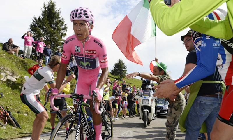 Nairo Quintana in action during the 2014 Giro d'Italia. The Colombian is a leading contender to win this year's centenary race, which begins on Friday