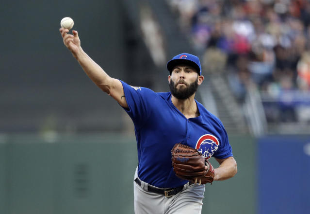 In his past seven starts, Jake Arrieta has a 2.18 ERA. (AP Photo/Marcio Jose Sanchez)