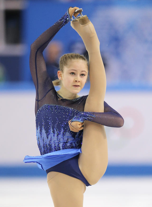 Yulia Lipnitskaya of Russia competes in the women's team short program figure skating competition at the Iceberg Skating Palace during the 2014 Winter Olympics, Saturday, Feb. 8, 2014, in Sochi, Russia
